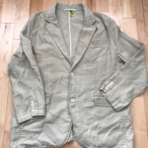 Neutral linen men's blazer designer Break Water